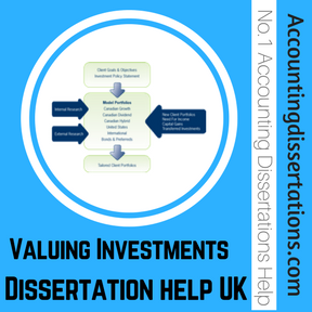 Valuing Investments Dissertation help UK